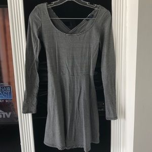 American Eagle Cross Back Striped Dress